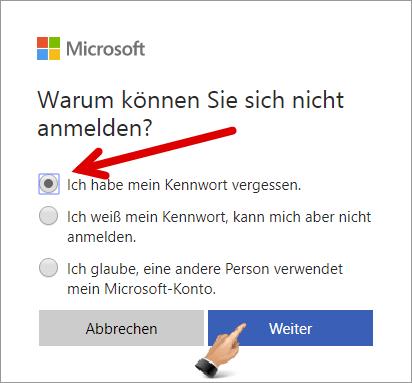 Microsoft Konto Vergessen