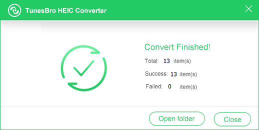 HEIC Converter Completed