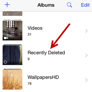 recent deleted photos on iphone