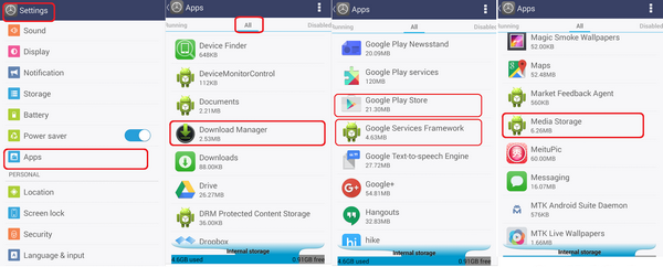 how to clear system data on android