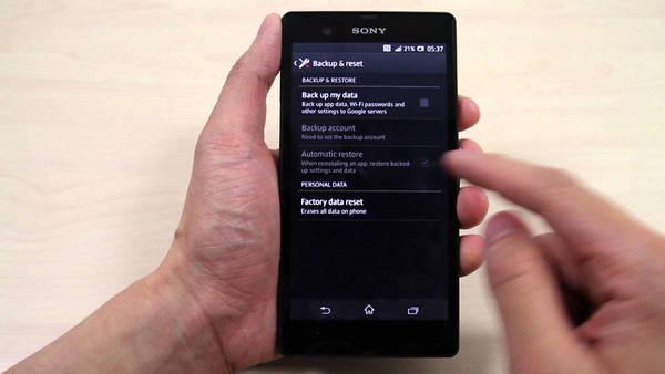 How to Erase and Wipe All Data from Sony Xperia Z5/Z3/XA/XZ