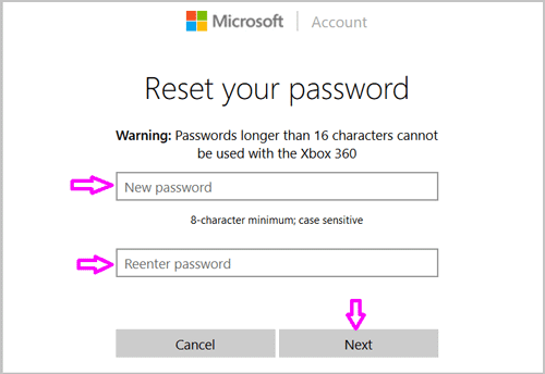 windows 8 surface pro password reset