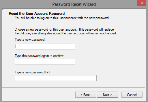 Windows 10 Password Reset Disk